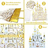 MOVINPE Gold Birthday Cake Decoration Gold White