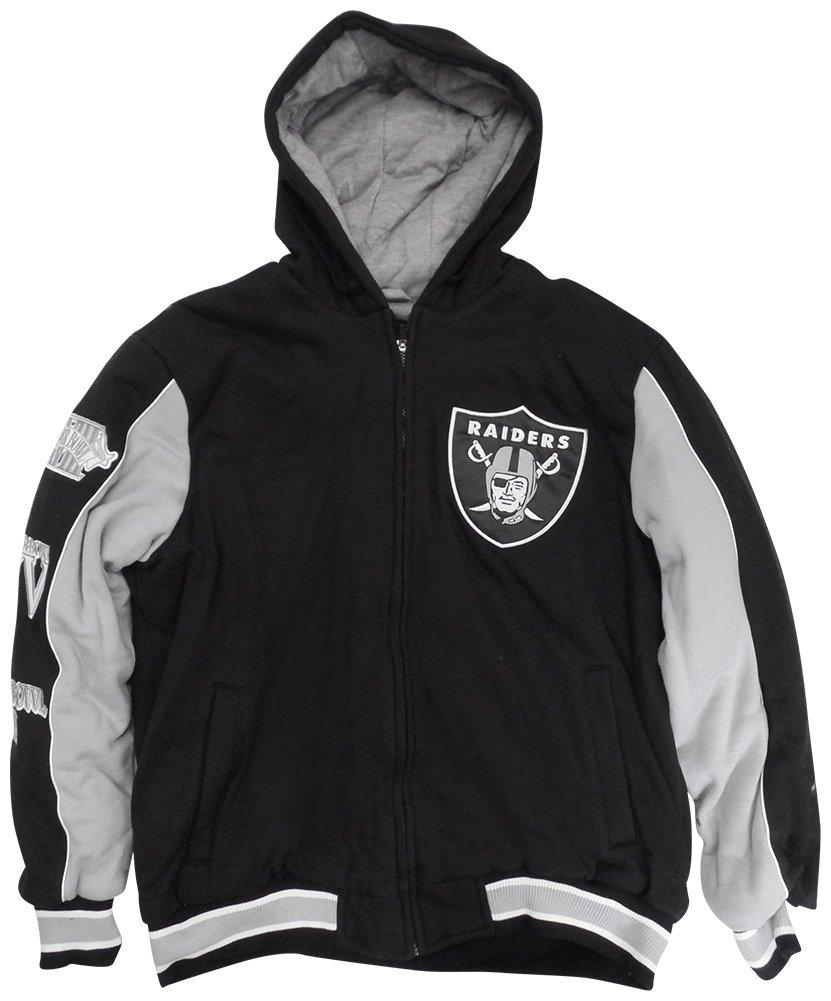 56887e5e Oakland Raiders Men's First Class Full-Zip Varsity Jacket