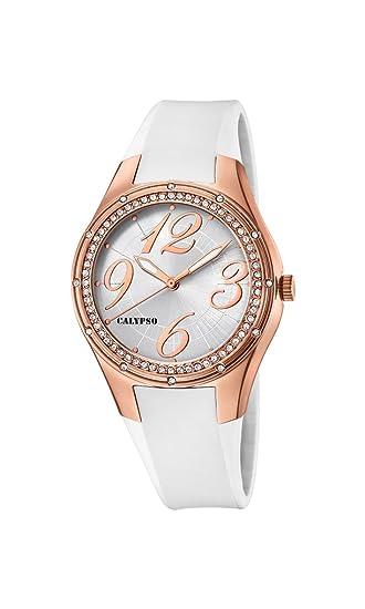 Calypso Reloj Análogo clásico para Mujer de Cuarzo con Correa en Plástico K5721/2: Calypso: Amazon.es: Relojes