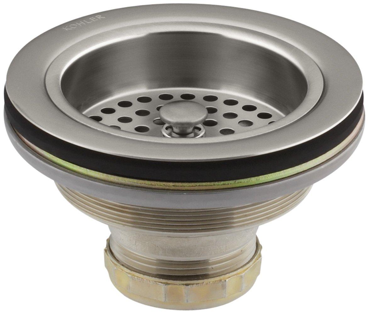 KOHLER K-8799-VS Duostrainer Sink Strainer, Vibrant Stainless by Kohler