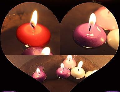 Schwimmkerzen Spa klassische Duft-Teelicht-Form-Kerzen mit 100 Seiden-Rosenbl/üten Mini-Kerzenscheiben f/ür Hochzeiten Geburtstage 10 St/ück rose Jubil/äen Entspannung Heimdekoration