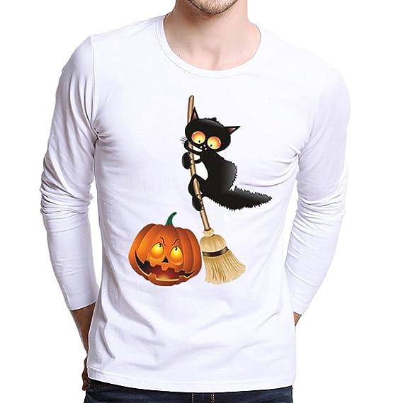 Camiseta de Manga Larga de Halloween,BBestseller Camiseta de Hombre de Halloween Sudaderas con Capucha