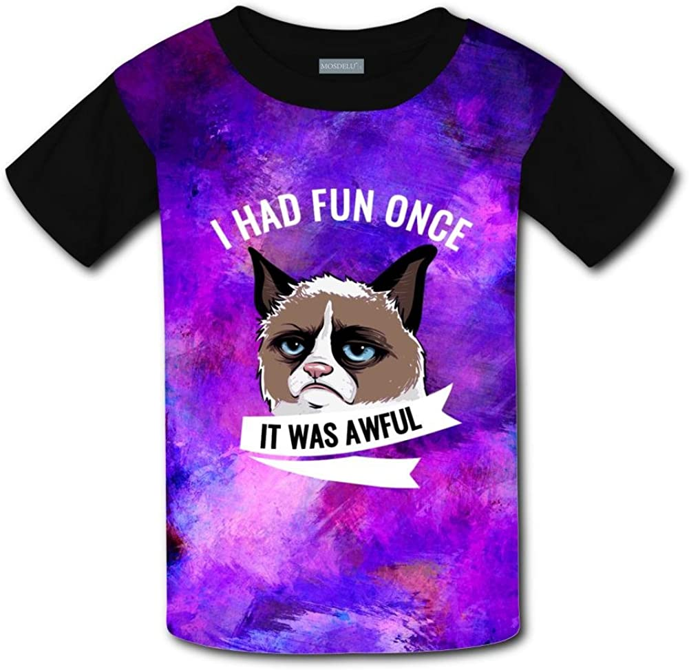 Aslgisy It was Awful Casual T-Shirt Short Sleeve for Kids