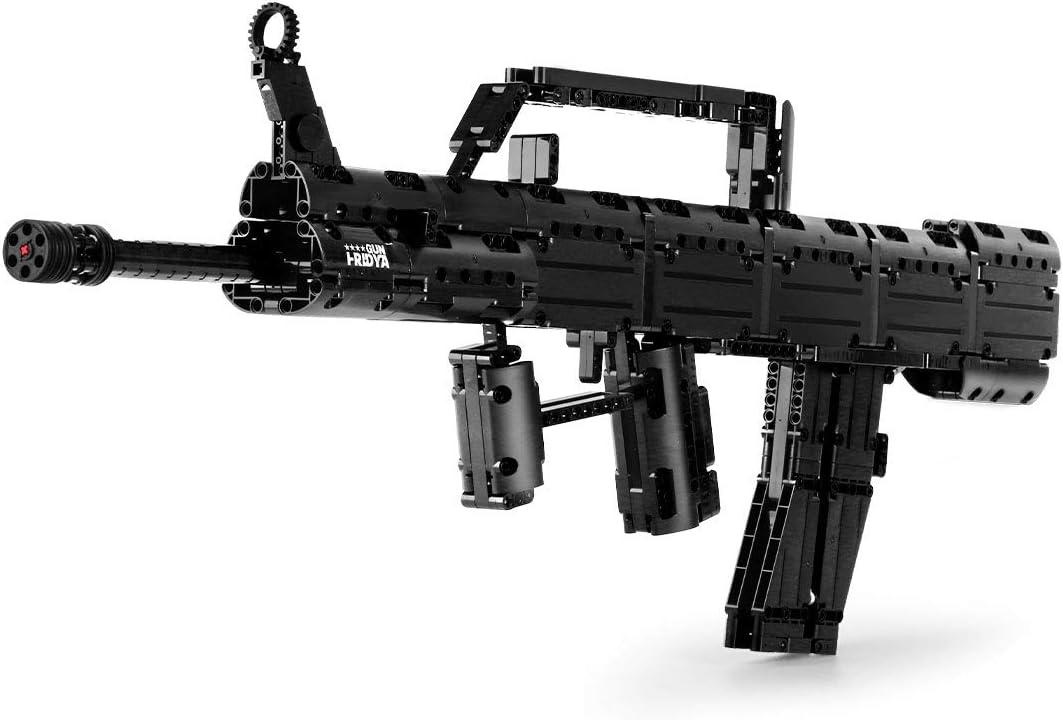 BGOOD Juego de construcción para rifle de construcción Mould King 14005, 787 bloques de construcción para disparar, pistola desert Eagle, modelo con balas, compatible con Lego