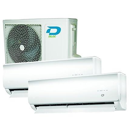 Aire acondicionado Multi bi-split DILOC 9000 + 12000 BTU Smart Wifi Compresor Sharp