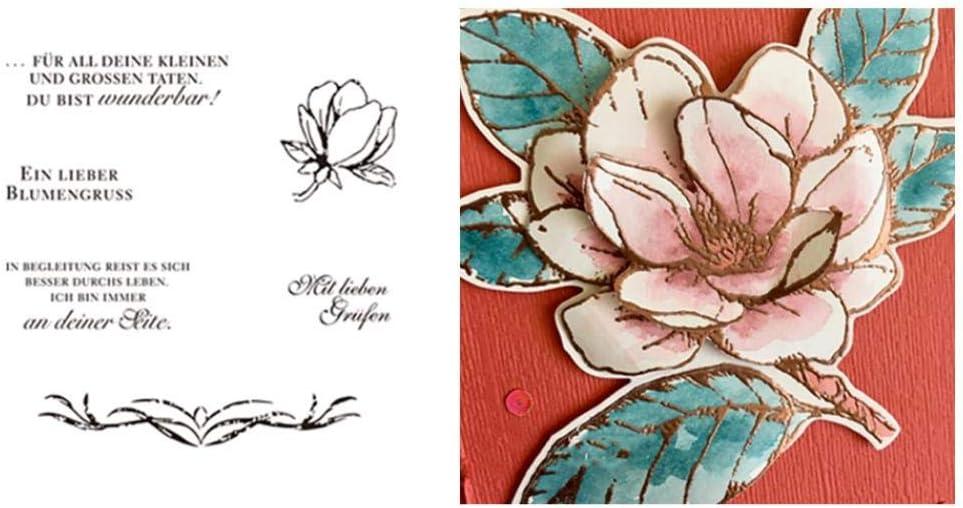 Maserfaliw Cutting Dies Stencils Flower Shape Metal Silicone Stamp DIY Scrapbooking Album Cards Tool
