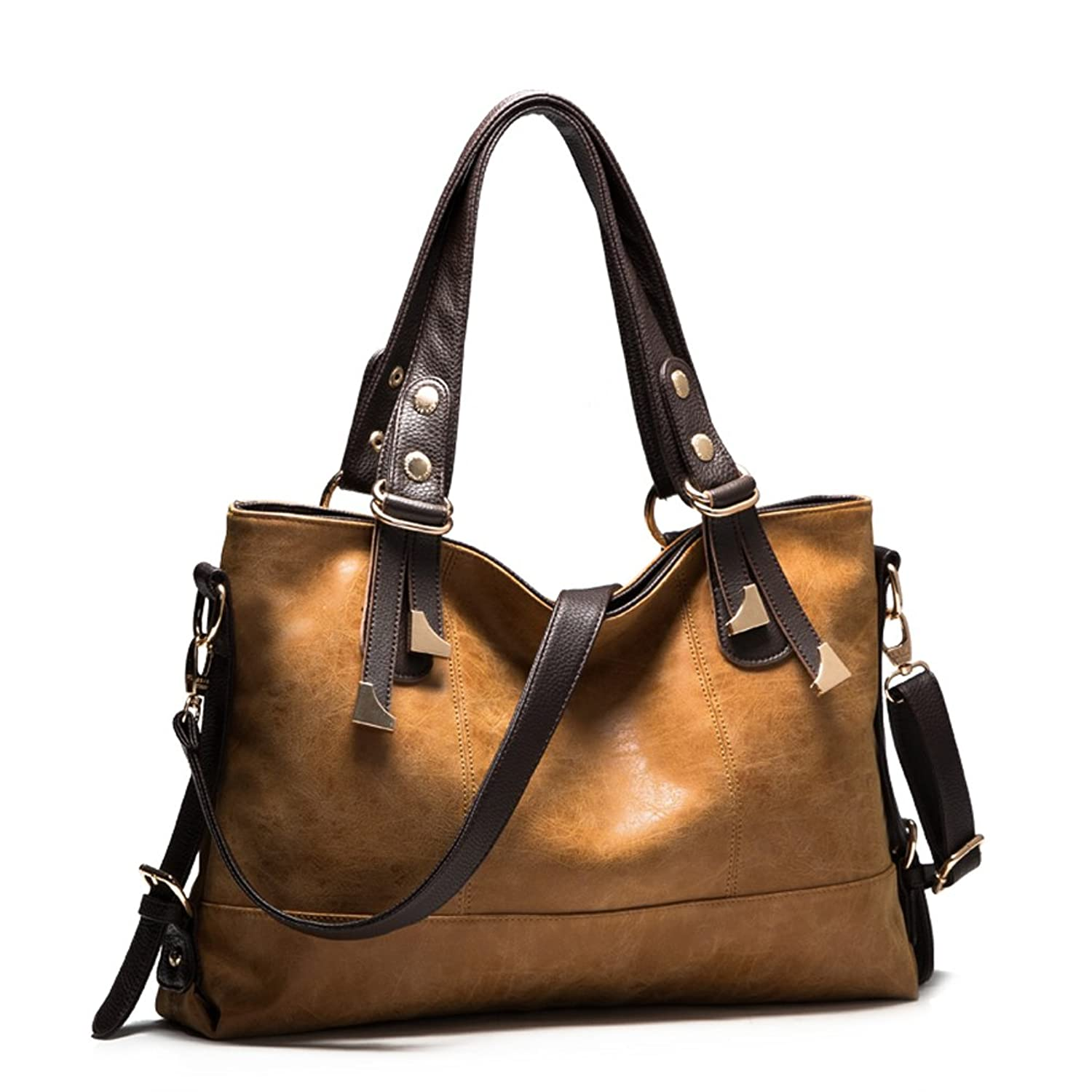 Mantos Eternity Women's Smooth PU Leather Simple Casual Office Tote bags Large