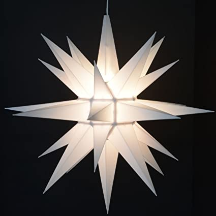 advent stars moravian star indooroutdoor christmas decoration light 21 inches - Outdoor Christmas Star Decoration