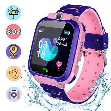 NAIXUES Smartwatch Niños, Reloj Inteligente Niña IP67, LBS, Hacer ...