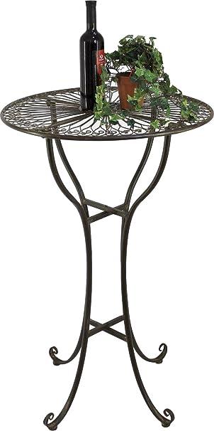 Durchschnittliche Tischhöhe dandibo stehtisch metall antik braun 20832 rund tisch höhe 105 cm ø