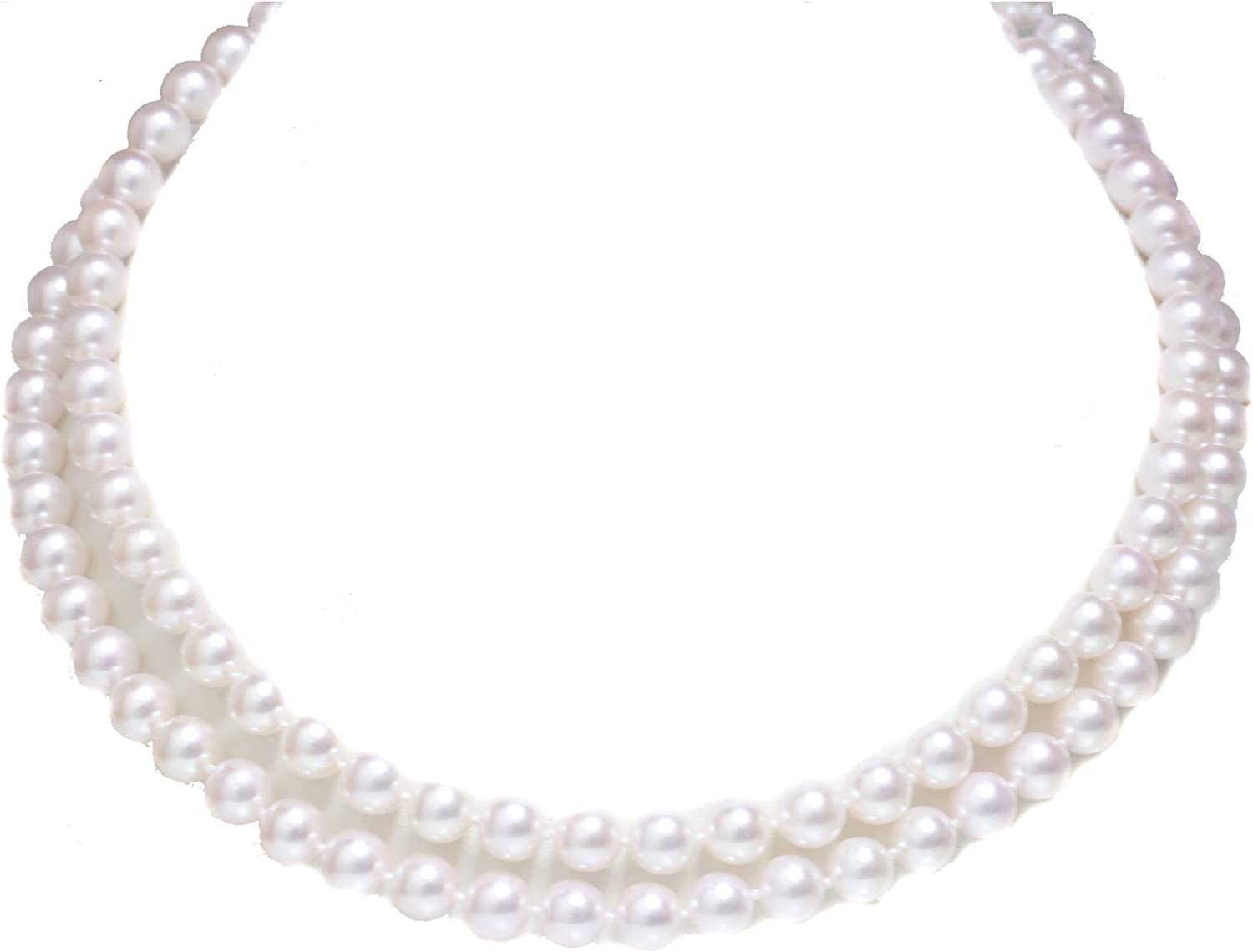 Akoya Pearl Opera Necklace 8-7.5 MM AAA Hanadama Quality 14k Solid Yellow Gold 36 Gift For Women
