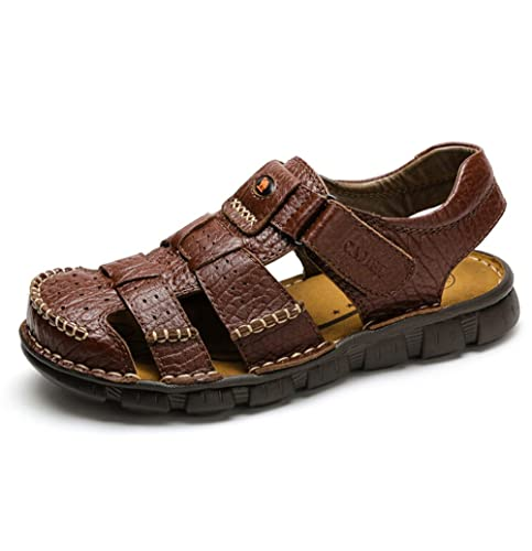 6d1c4f714d78 Camel Men s Fisherman Sandals Leather Breathable Close-Toe Sandal Non-Slip  Adjustable Summer Beach