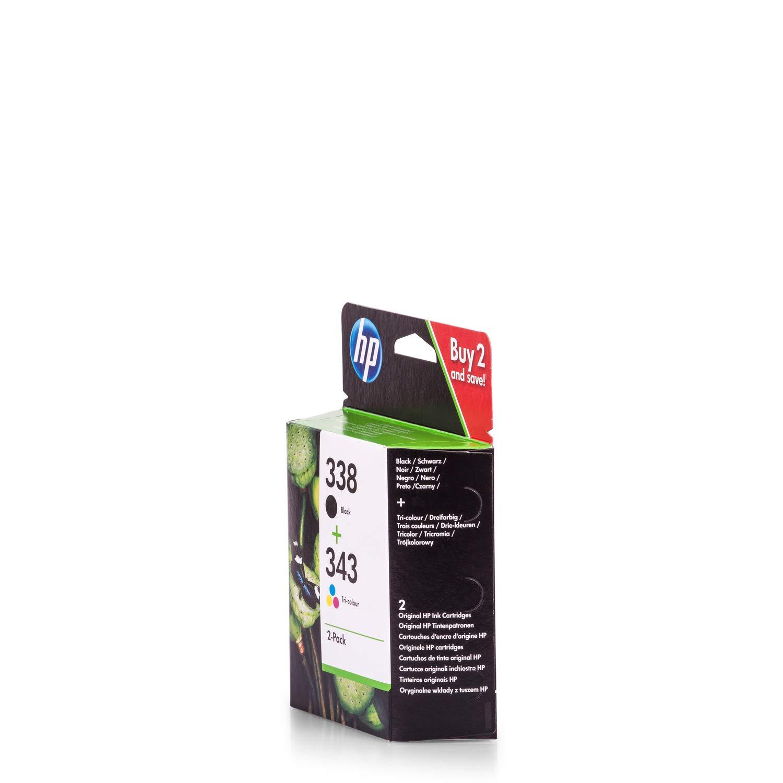 Original de tinta compatible con HP Officejet 7410 NR 338 y 343 HP ...