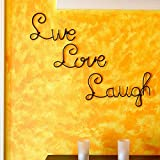 Live Love Laugh Set 3 Wall Mount Metal Wall Word