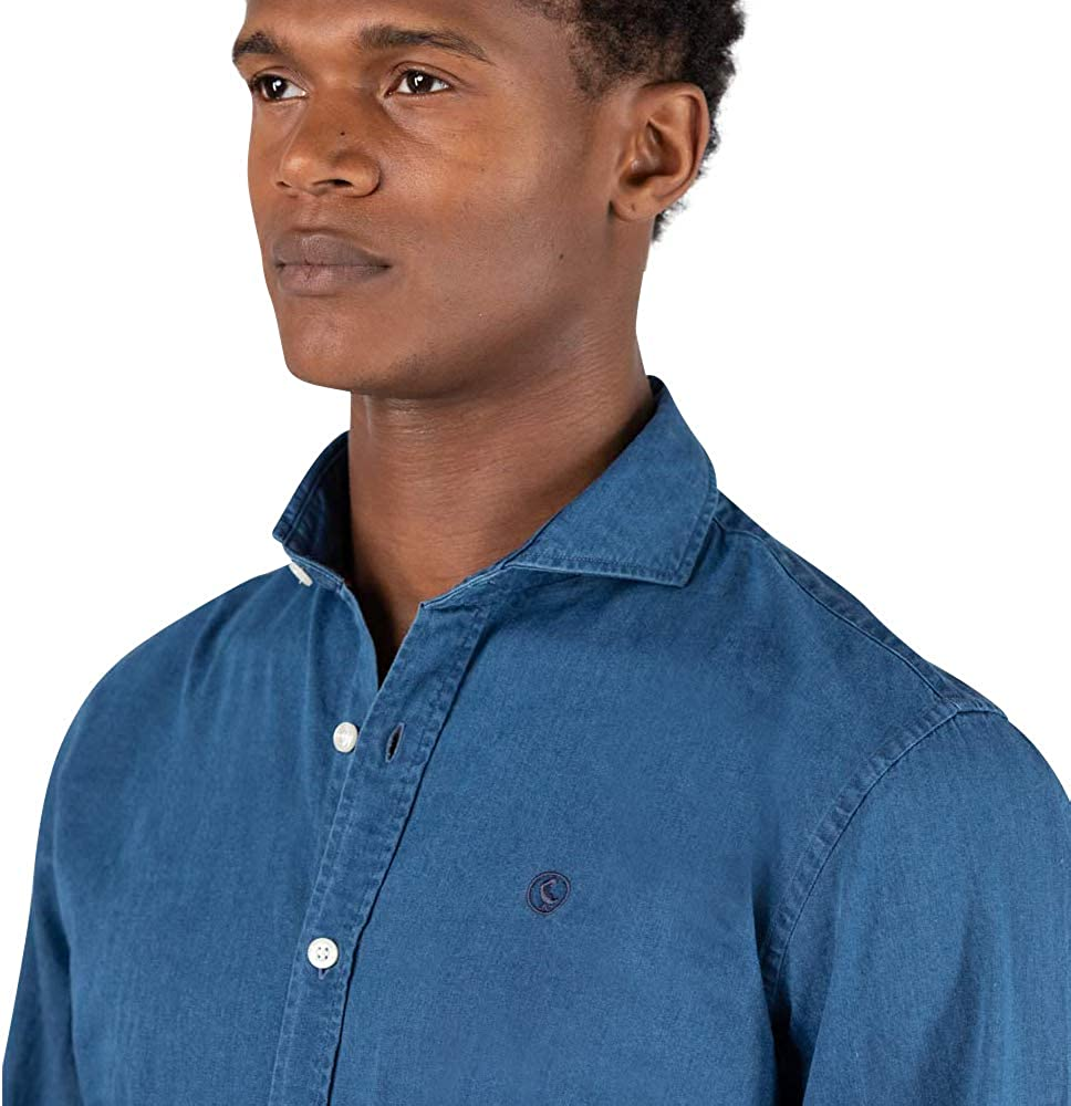 El Ganso Men's Urban Iconic Casual Shirt Blue (Indigo 0022)