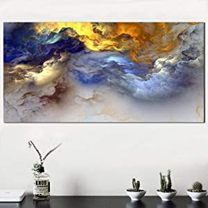 Canvas Decorative Prints Wall Art Oil Painting Abstract Cloud Home Landscaping Decor Picture for Living Room No Frame 24x32inch