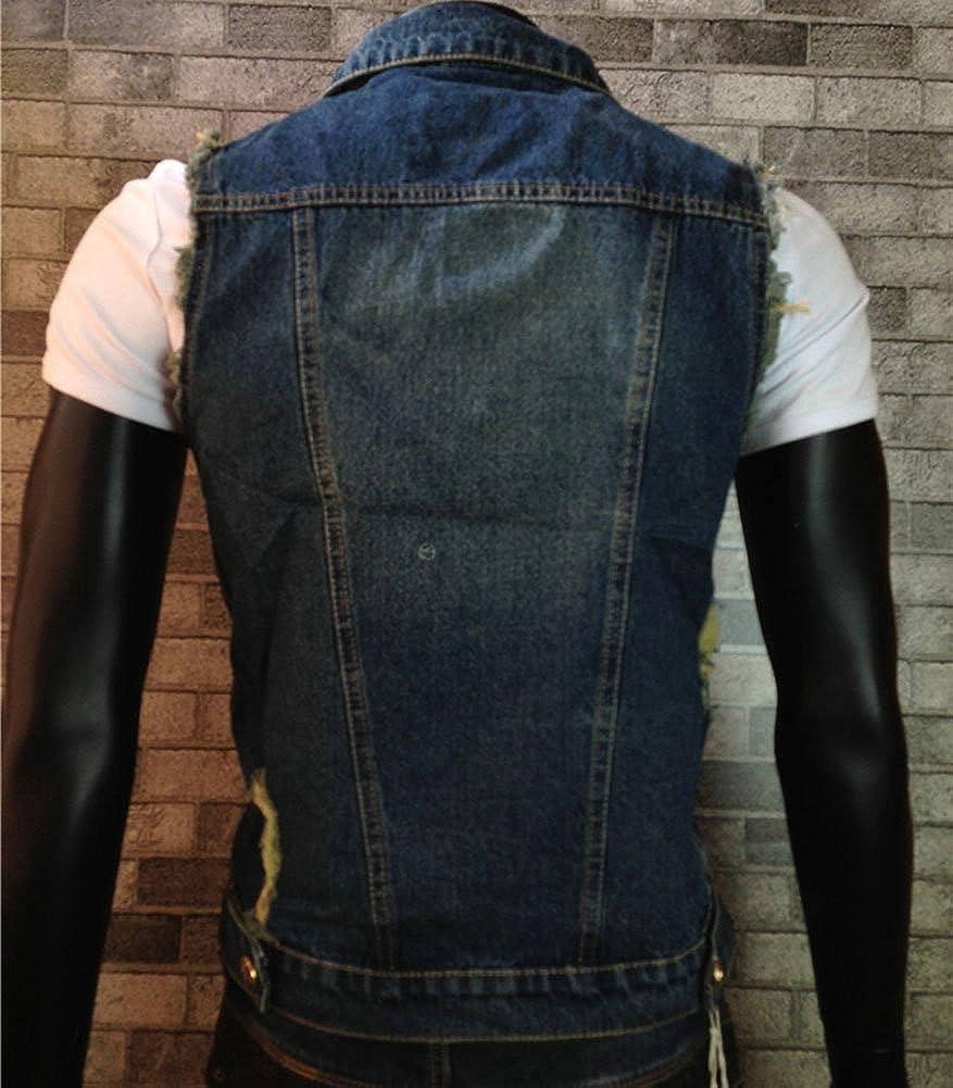 Homme Vintage Déchiré En Blouson Veste Veston Gilet Jeans Denim rrd4xRqB
