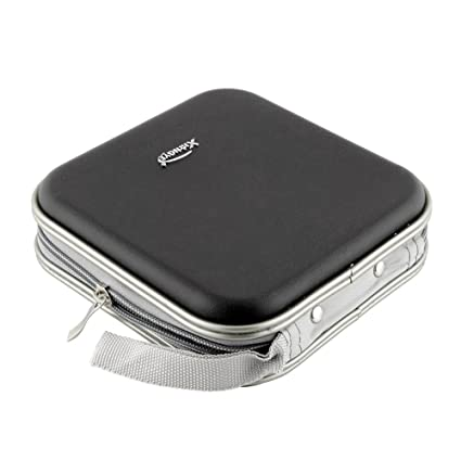 e87c338edae0 liangxie New black 40 Disc CD DVD DJ Storage Organizer Hard Wallet Holder  Album Bag Hard Box Double side black CD bag