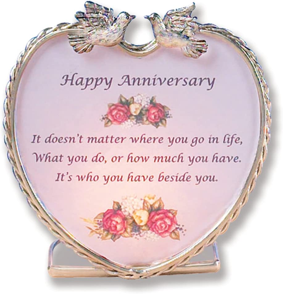 Amazon Com Banberry Designs Happy Anniversary Heart Candle
