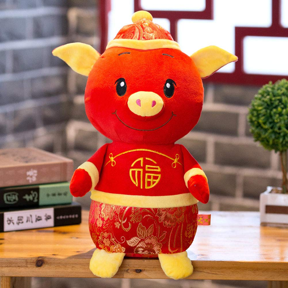 Aland-2019 New Year Kawaii Mascot Pig Tang Suit Dress Fortune Toy Party Decor Gift - 30cm by Aland (Image #2)