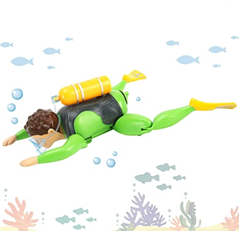 2//0 Swimming Frog Diver Green//Orange