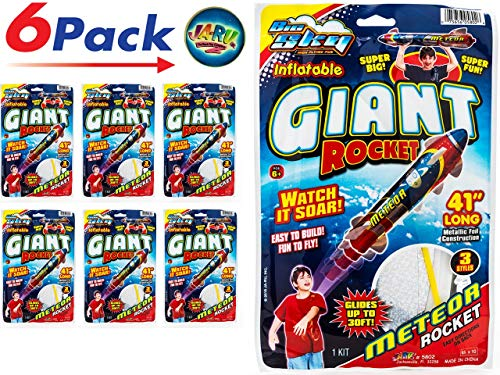Giant Rocket Glider 41 Inches Long (6 Units) with a Collectable Bouncy Ball by JA-RU| Item #5802-6slp -