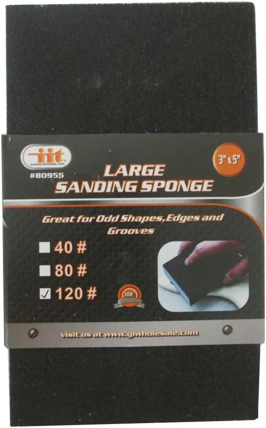 3 Pc Sanding Sponge Polishing Block Pad Set Sandpaper Foam Dual Angle Large Grit