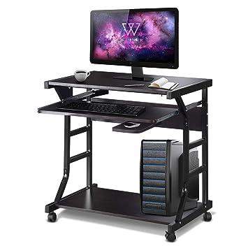 Amazon.com: TANGKULA - Mesa de estudio pequeña para ...