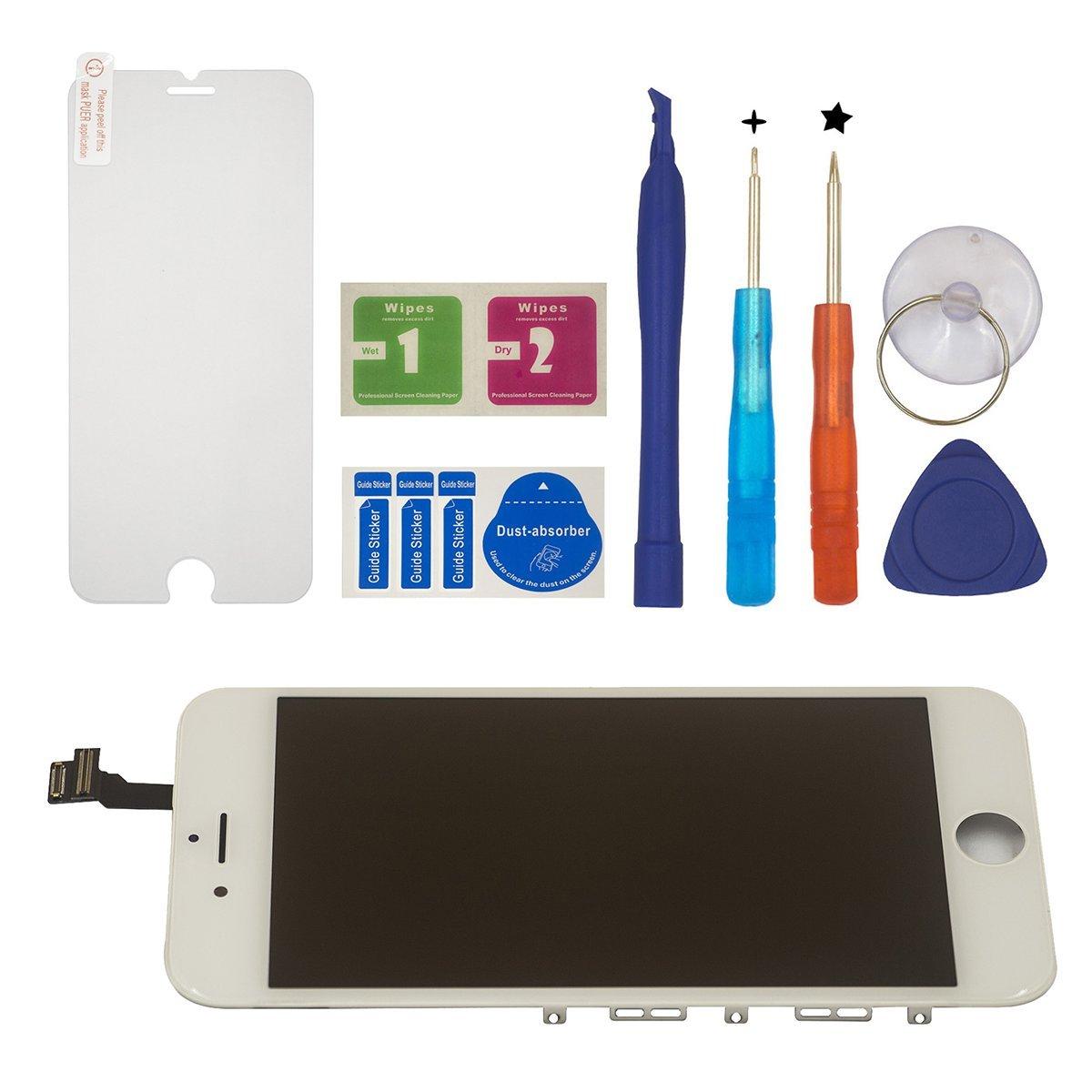 negro BBSELL LCD Pantalla T/áctil Reemplazo De Marco Digital Un Conjunto Completo De Herramientas y Montaje Pantalla De Vidrio Protector Para IPhone 6S 4.7