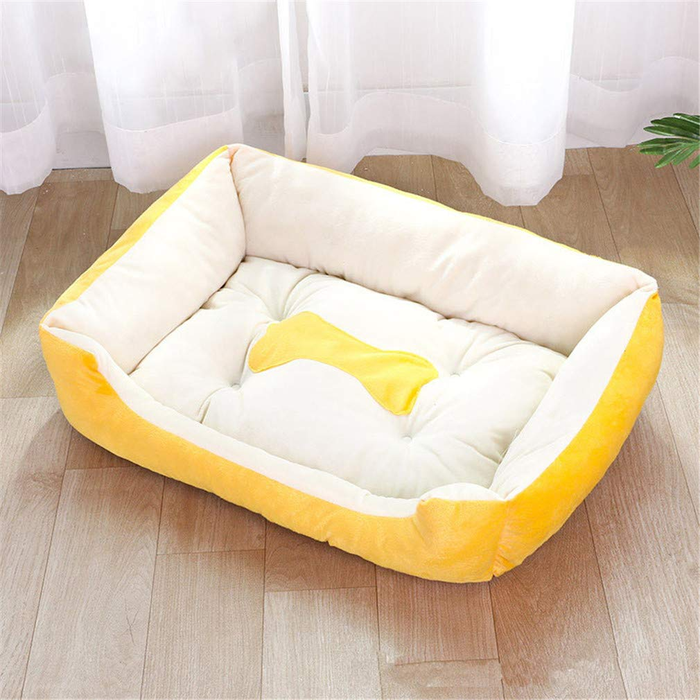 Yellow 80X60X15cm Yellow 80X60X15cm Large Dog Bed Plus Size Puppy Cats Pet Beds For Big Dogs Comfortable Plush Warm Large Dog Mat Dog Cushion Yellow 80X60X15cm