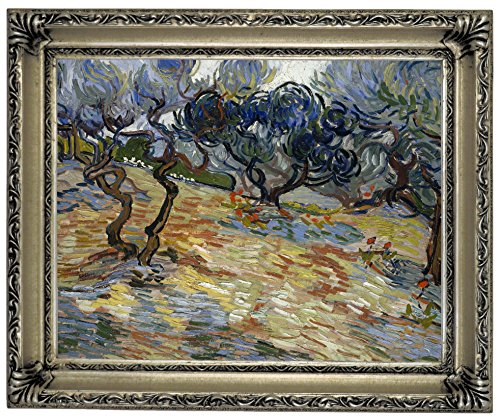 Historic Art Gallery Olive Trees 1889 by Vincent Van Gogh Framed Canvas Print 11