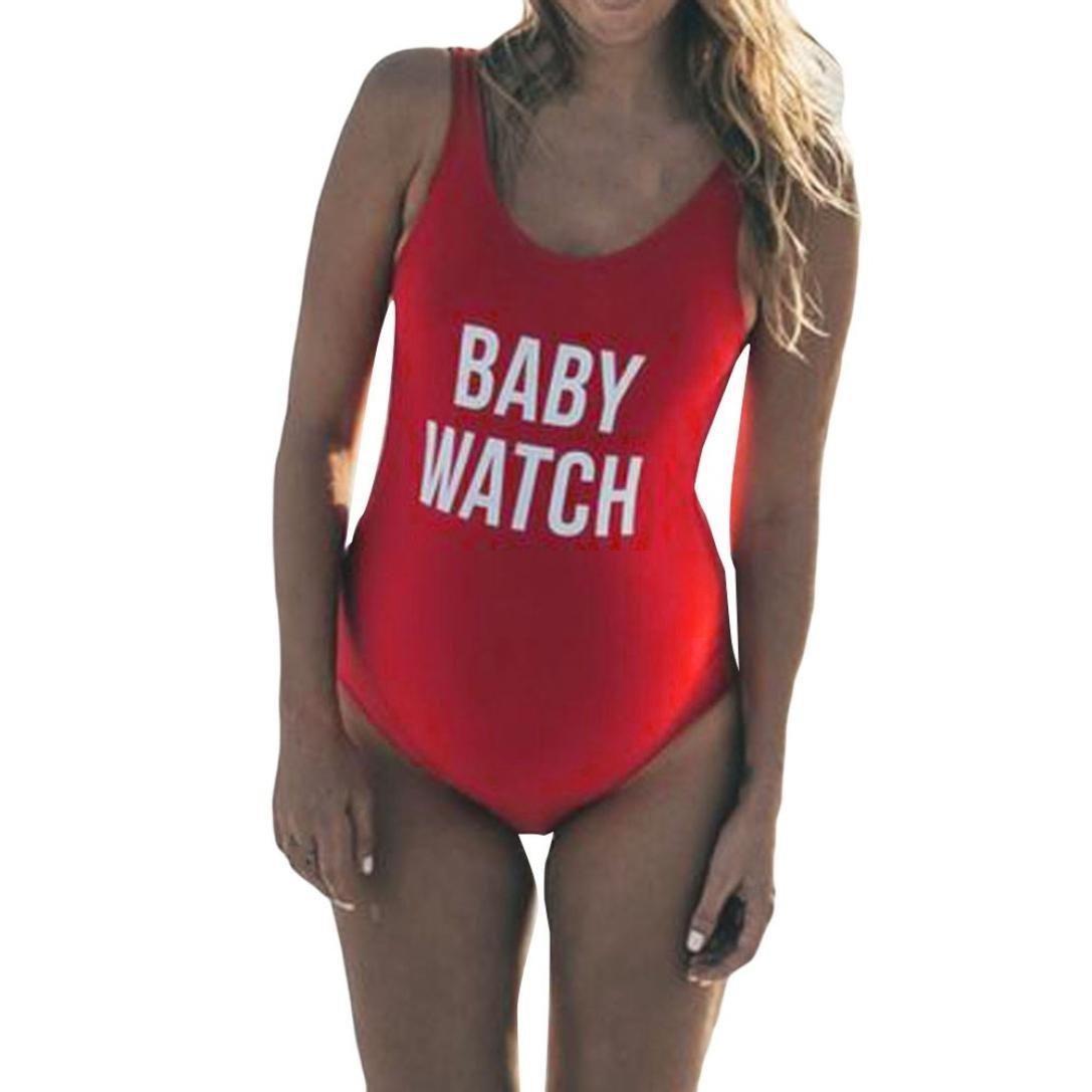 WuyiMC® Clearance Maternity Tankinis One Piece Letter Print Bikinis Swimsuit Beachwear Pregnant Suit