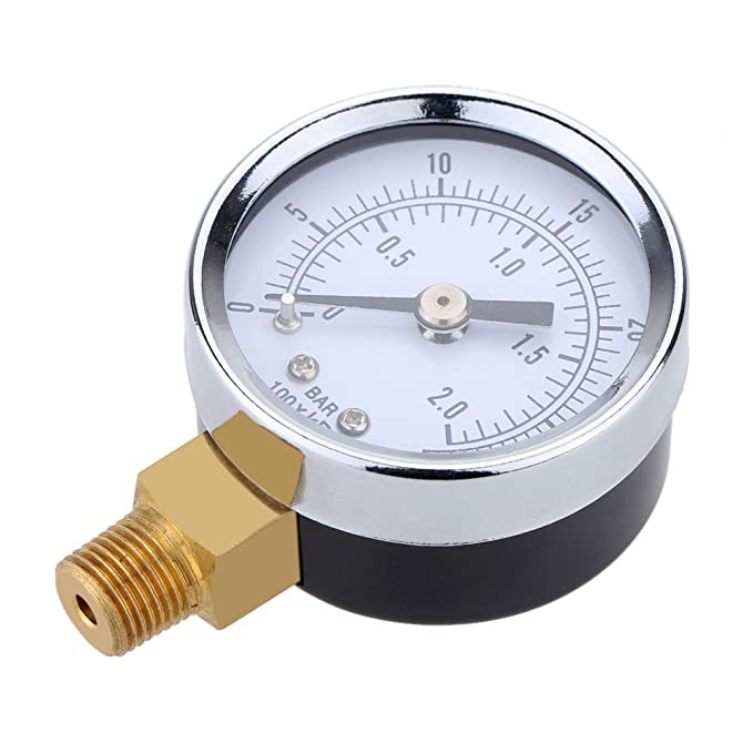 Barometro - TOOGOO(R)0 ~ 30 psi 0 ~ 2bar Mini esfera Manometro ...