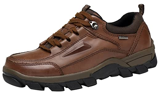 FJQY-8963 New Mens Leather Casual Leisure Comfy Smart Cozy Dynamic Hiking Working Shoes