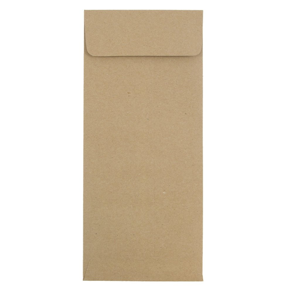 JAM PAPER #12 Policy Business Premium Envelopes - 4 3/4 x 11 - Brown Kraft Paper Bag - 25/Pack