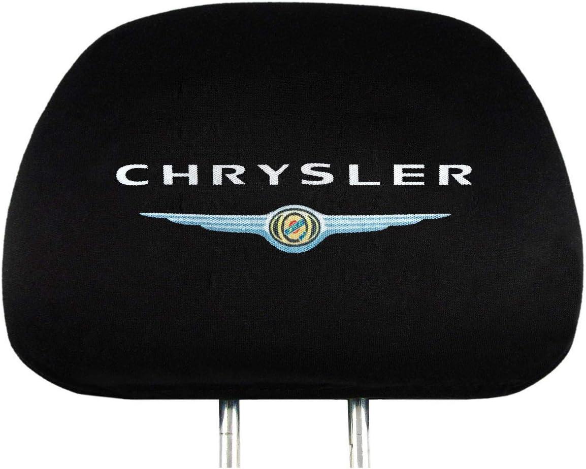 2011-2014 Chrysler 200 Series. Soft Elastic Fabric Universal Headrest Cover fits for 2001-2010 Chrysler Sebring Series 2Pcs Black Fabric Headrest Covers for Chrysler 2005-2018 Chrysler 300 Series