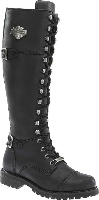 Harley Davidson Women's Beechwood Work Boot, Black, 10 M US
