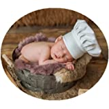 Coberllus Newborn Monthly Baby Photo Props Chef Hat Headdress For Boys Girls Photography Shoot