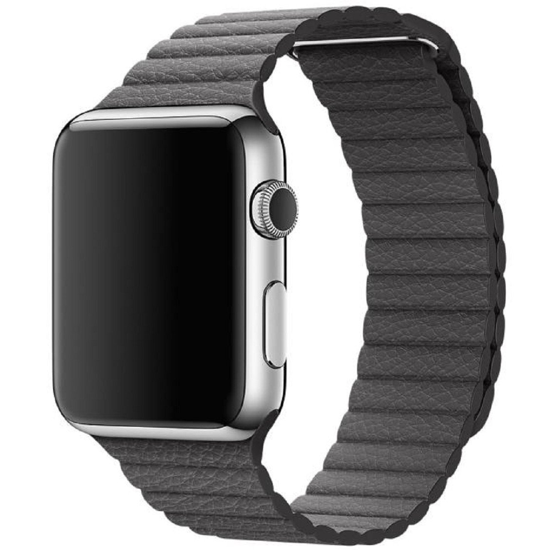 Ouneed For Apple Watch 42mm Cuero Genuino Loop Tipo Venda de Reloj de la Correa del Reloj para Apple 42mm (Gris): Amazon.es: Deportes y aire libre