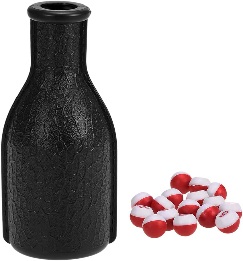 DaMohony Billiard Shaker Bottle And 16 Numbered Tally Balls Pool Dice Billiards Accessory