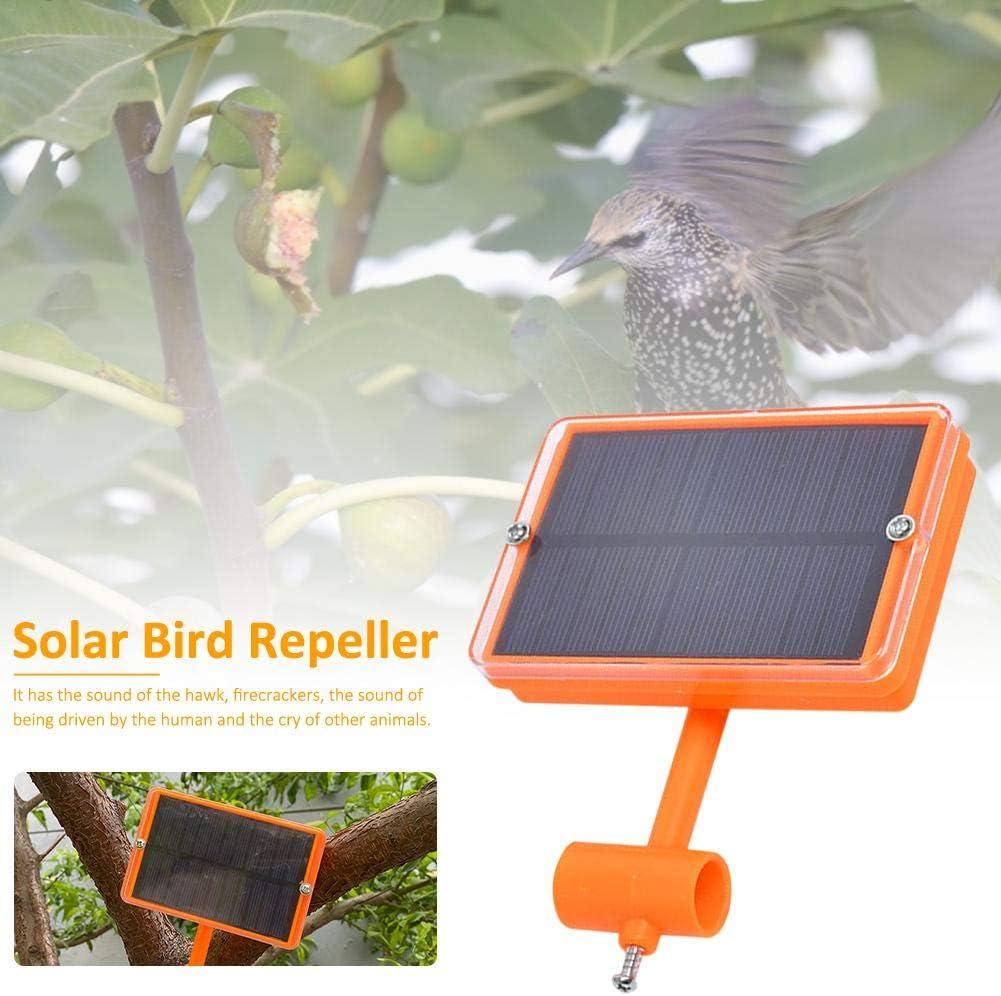 VERLOCO Repelente Solar De P/ájaros Ultras/ónico Dispositivo De Conducci/ón De Animales con Sonic para Conducir P/ájaros Jard/ín Al Aire Libre Repelente De Insectos