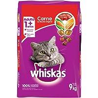 Whiskas alimento para Gatos Adultos. Sabor Carne (Receta Orginal) 9Kg, Violeta