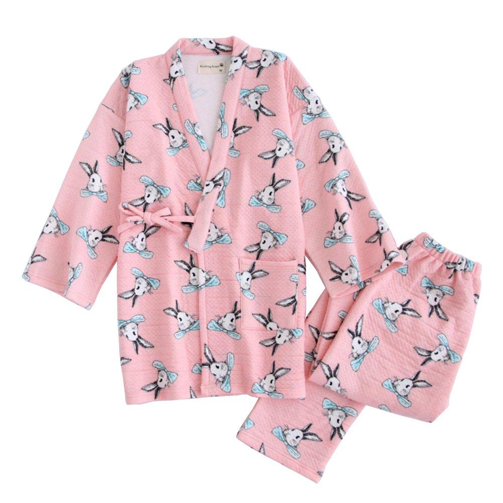 Womens Winter Kimono Pajamas Suit Thicker Warm Winter ...