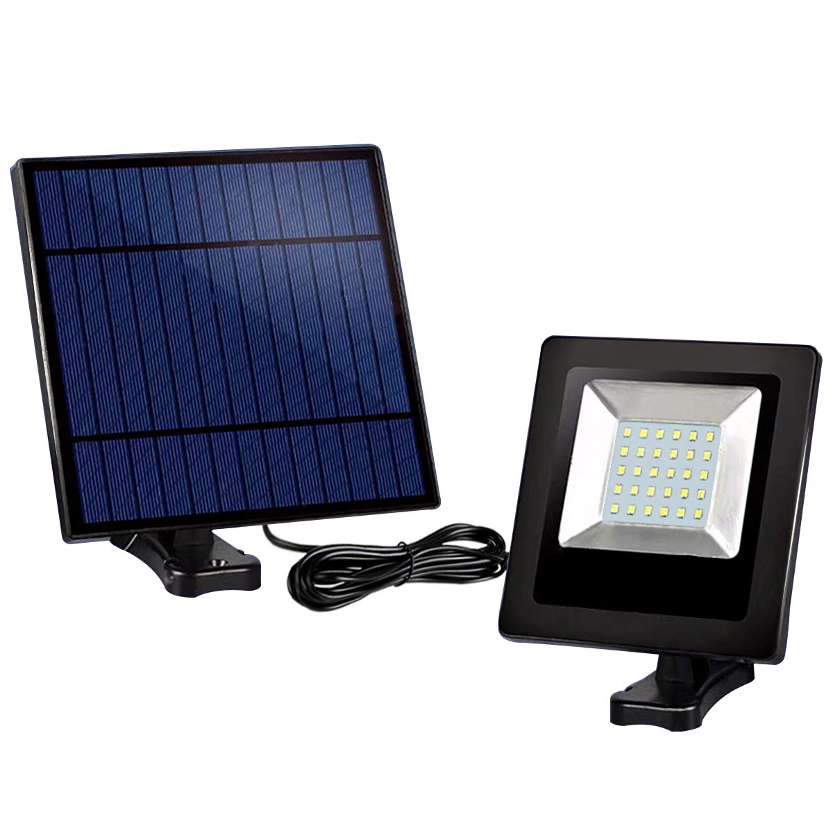 Solar Powered Lights Outdoor, Awanber Bright White Light IP65 Waterproof Auto Dusk to Dawn 350° Adjustable Solar Security Flood Lights for Barn, Garden, Garage, Pathway, Yard, Patio, Lawn, Balcony