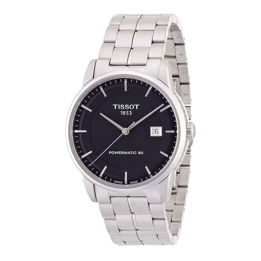Men's T0864071105100 T classic powermatic Analog Display Swiss Quartz Silver Watch