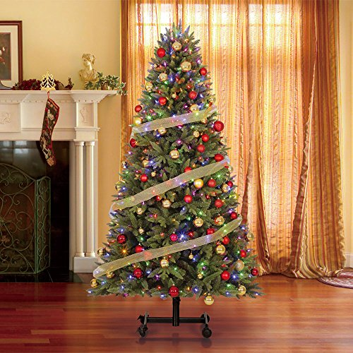 Home Heritage Alaska 6' - 7.5' Grow & Stow Dual Colored Light Christmas Tree by Home Heritage (Image #1)