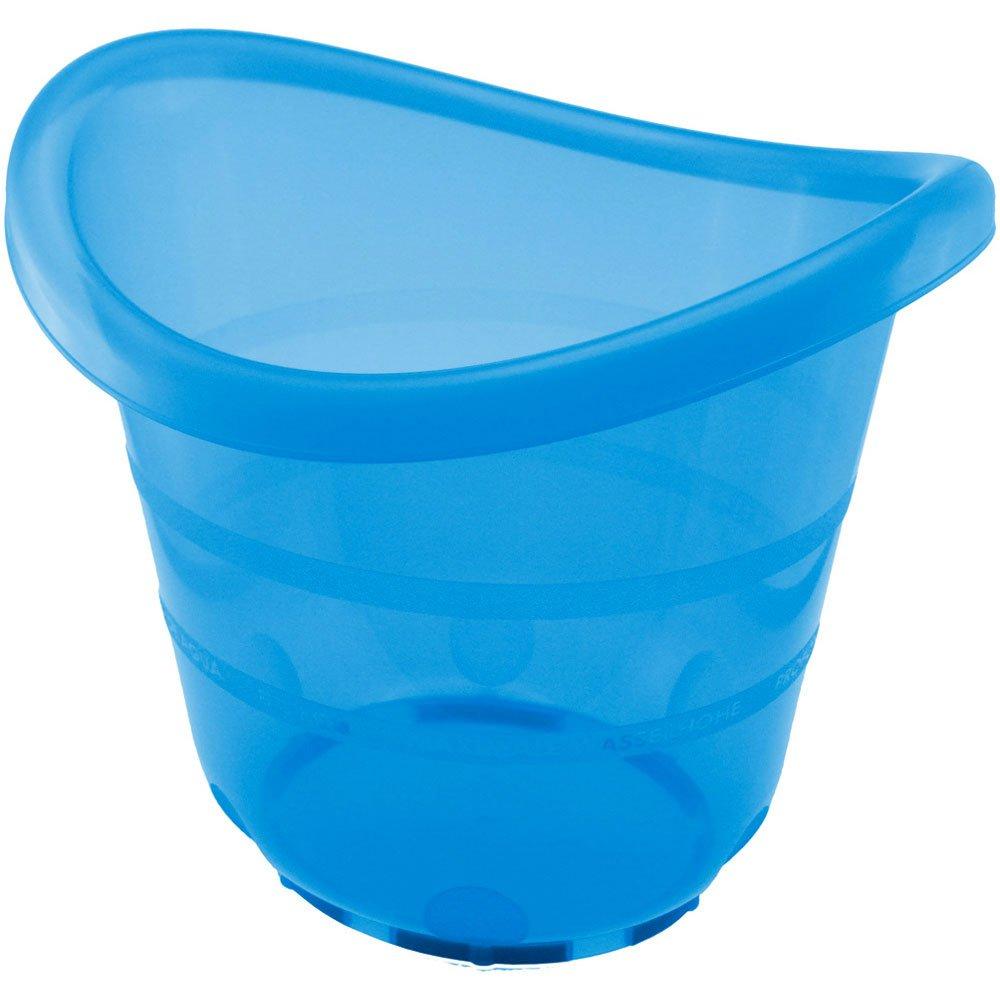 38x34 cm idealer Reisebegleiter Baby Babybad ca Badeeimer in Blau