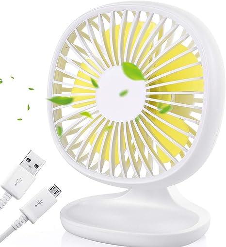 Color : 02 Air Cooler USB Portable Table Fan Desktop Large Wind Mini Fan Office Home Outdoor Personal Fan