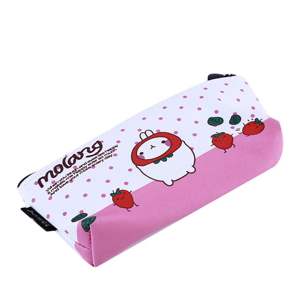 LZIYAN Cartoon Rabbit Pencil Case Cute Stationery Storage Bag Waterproof Cosmetic Bag School Supplies For Students,Pink by LZIYAN (Image #2)