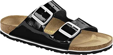 Birkenstock slipper ''Arizona'' , Leather , black regular